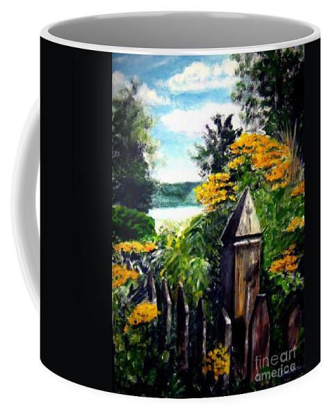 Upstate New York Coffee Mug featuring the painting Upstate Winery by Sandy Ryan