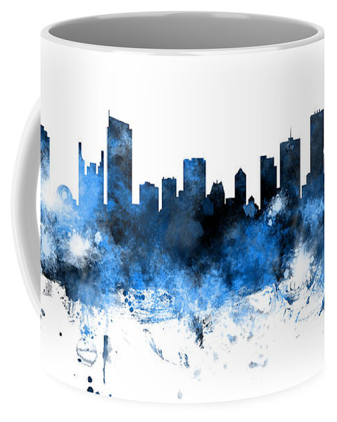 Vancouver Coffee Mug featuring the digital art Vancouver Canada Skyline Panoramic by Michael Tompsett