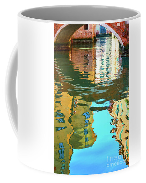 Architecture Coffee Mug featuring the photograph Venetian Mirror - Venice In Water Reflections by Roman Sigaev