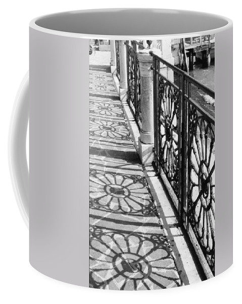 Fence Coffee Mug featuring the photograph Venice Fence Shadows by Lauri Novak