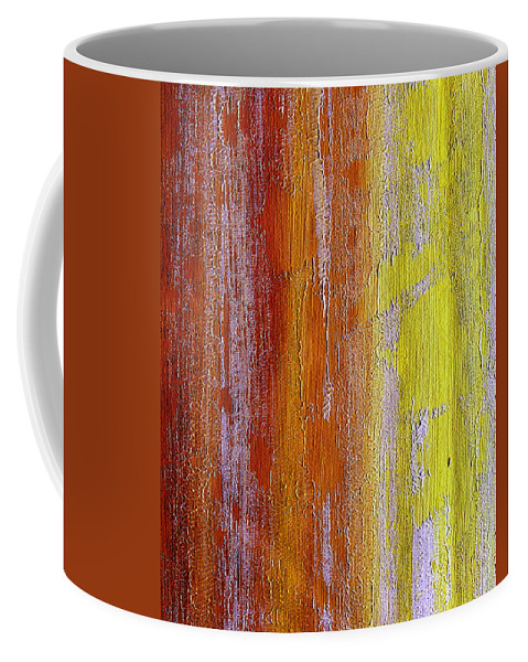 ruth Palmer Coffee Mug featuring the painting Vertical Interfusion by Ruth Palmer
