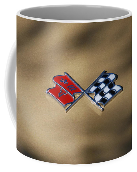 Corvette Coffee Mug featuring the photograph Vette Flags by Rob Hans