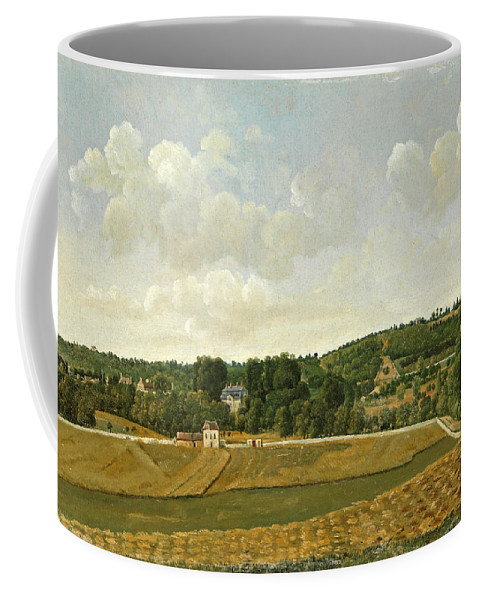 Achille Etna Michallon Coffee Mug featuring the painting View Of Chatenay by Achille Etna Michallon