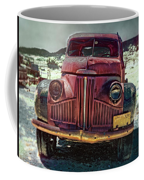 Motor Transport Museum Coffee Mug featuring the photograph Vintage Studebaker Truck by Claude LeTien