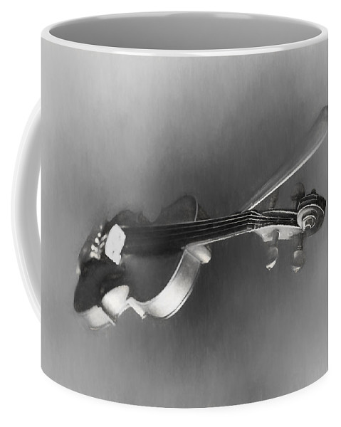 Theresa Campbell Coffee Mug featuring the digital art Violin by Theresa Campbell