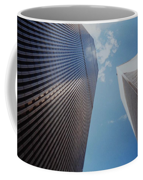 Wtc Coffee Mug featuring the photograph W T C 1 And 2 by Rob Hans