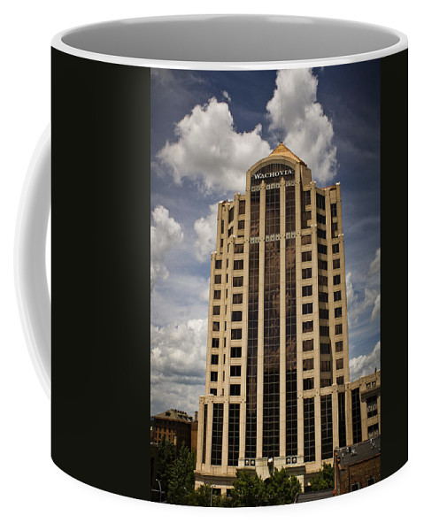 Roanoke Coffee Mug featuring the photograph Wachovia Tower Roanoke Virginia by Teresa Mucha