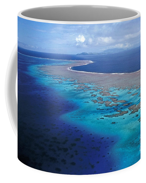 Aerial Coffee Mug featuring the photograph Wakaya Island Aerial by Larry Dale Gordon - Printscapes