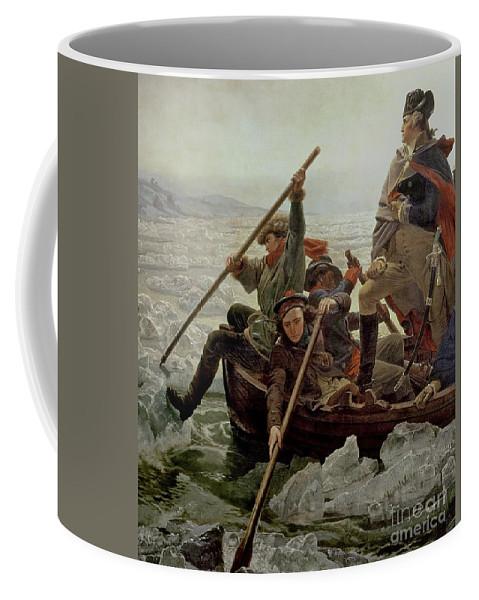 Washington Crossing The Delaware River Coffee Mug featuring the painting Washington Crossing The Delaware River by Emanuel Gottlieb Leutze