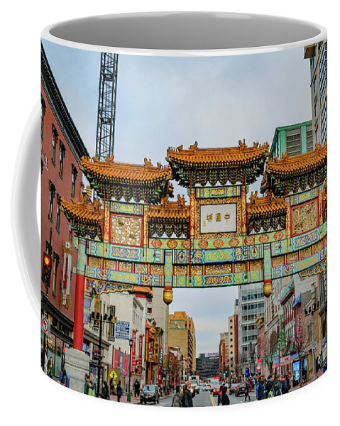Asian Coffee Mug featuring the photograph Washington D.c. Chinatown by Cityscape Photography