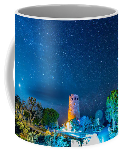 Canyon Coffee Mug featuring the photograph Watchtower Over The Grand Canyon  Arizona by Alex Grichenko