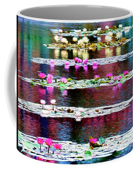 San Diego Coffee Mug featuring the photograph Water Lilies by Claude LeTien