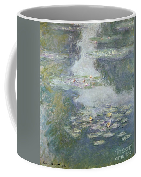 Pads Coffee Mug featuring the painting Waterlilies by Claude Monet