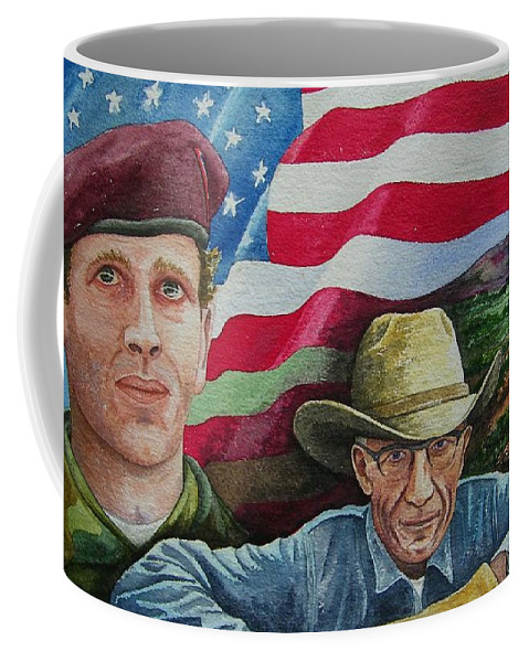 Soldier Coffee Mug featuring the painting We Hold These Truths by Gale Cochran-Smith