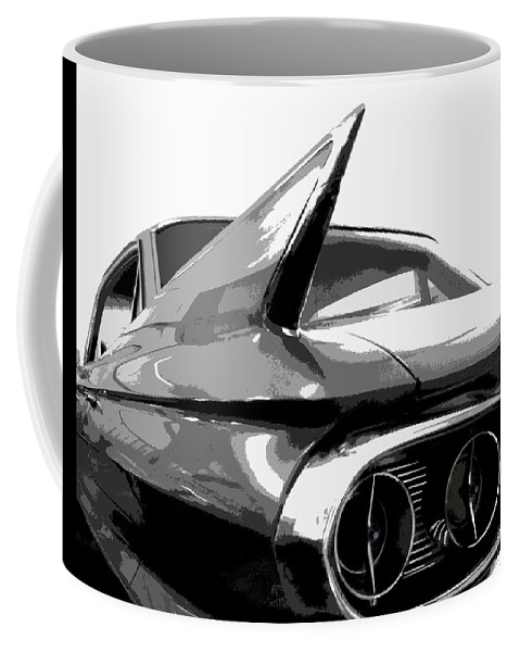 Cadillac Coffee Mug featuring the photograph When Fins Were Fashionable by Dick Goodman