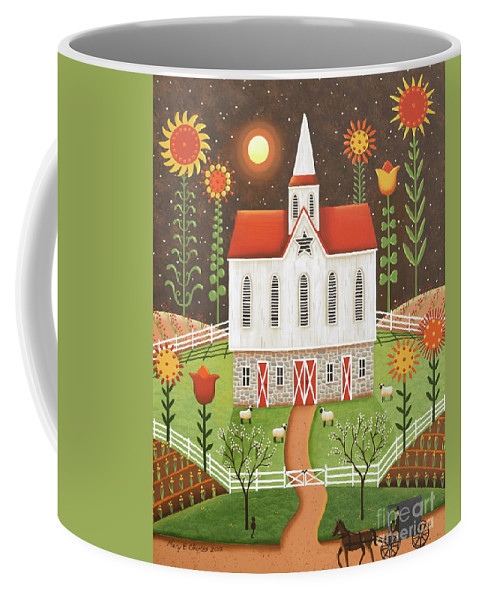 Wildflowers Coffee Mug featuring the painting Wildflowers by Mary Charles