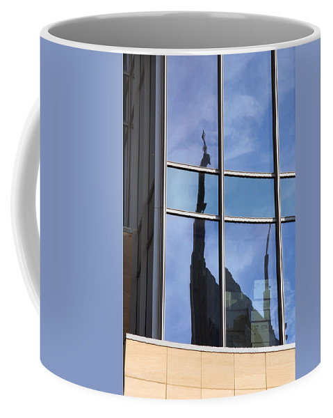 Nashville Coffee Mug featuring the photograph Window Reflections by Susanne Van Hulst