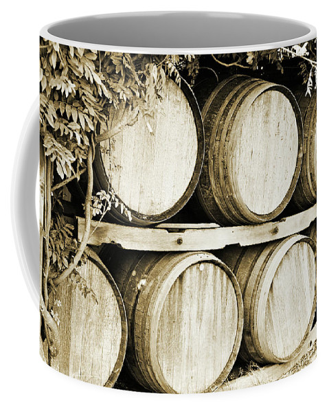 Wine Coffee Mug featuring the photograph Wine Barrels by Scott Pellegrin