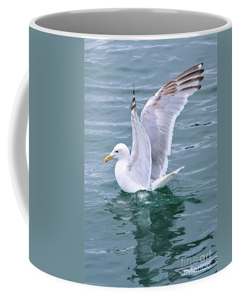 Gull Coffee Mug featuring the photograph Wings by Rick Monyahan