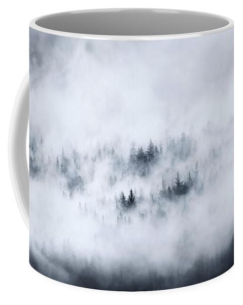 Fog Coffee Mug featuring the photograph Winter Dawning by Mike Dawson