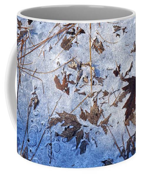 Ice Abstract Coffee Mug featuring the photograph Winter's First Grip by Bill Morgenstern