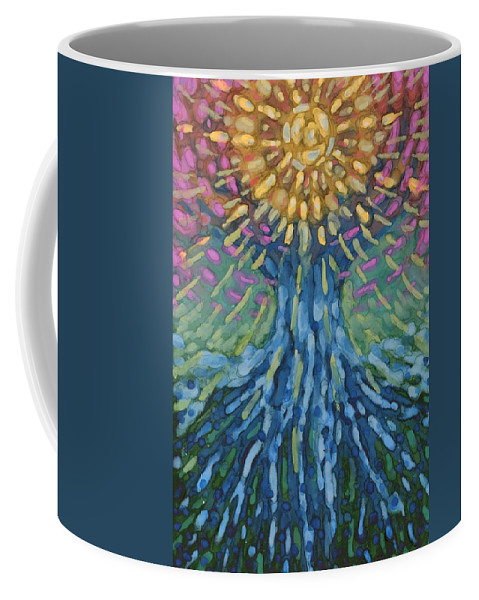 Colour Coffee Mug featuring the painting Without You by Wojtek Kowalski