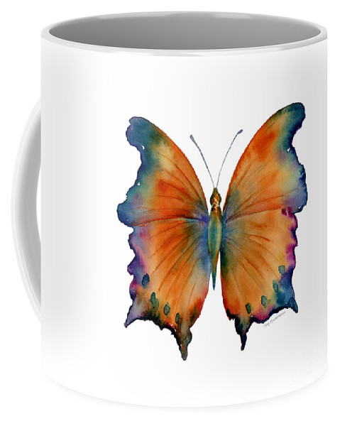 Wizard Butterfly Coffee Mug featuring the painting 1 Wizard Butterfly by Amy Kirkpatrick