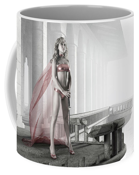Woman Coffee Mug featuring the photograph Woman Warrior by Maxim Images Prints