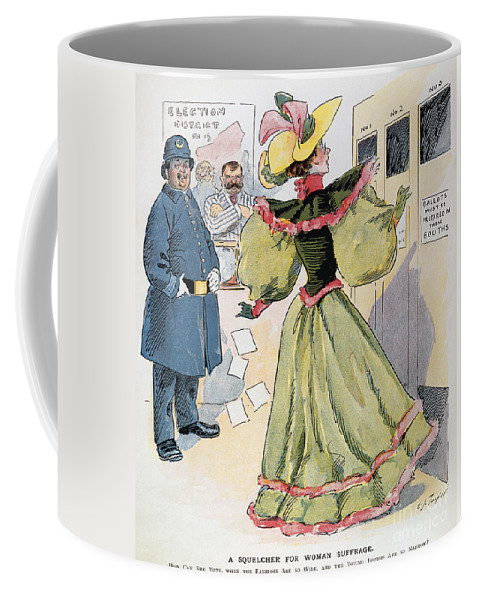 1894 Coffee Mug featuring the photograph Womens Rights Cartoon by Granger