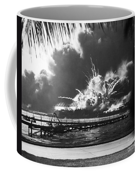 1941 Coffee Mug featuring the photograph World War II: Pearl Harbor by Granger