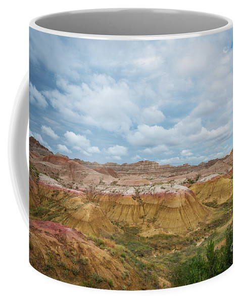 Yellow Mounds Coffee Mug featuring the photograph Yellow Mounds Of Badlands Np by Michael Ver Sprill