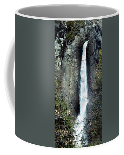 California Scenes Coffee Mug featuring the photograph Yosemite Bridal Veil Falls by Norman Andrus