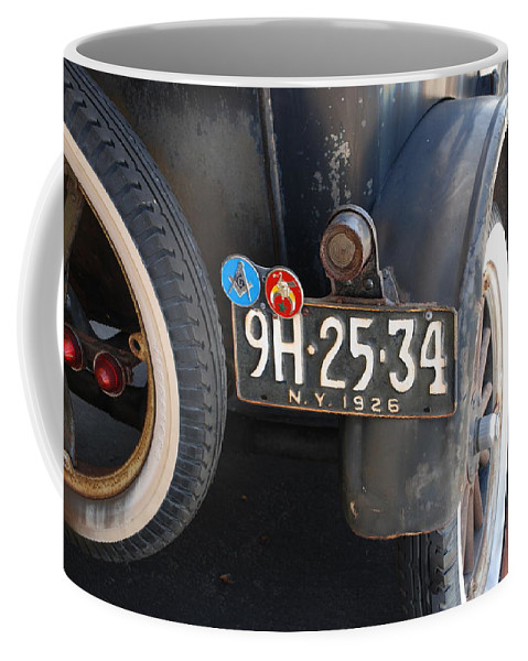Numbers Coffee Mug featuring the photograph 1926 Model T Ford by Rob Hans