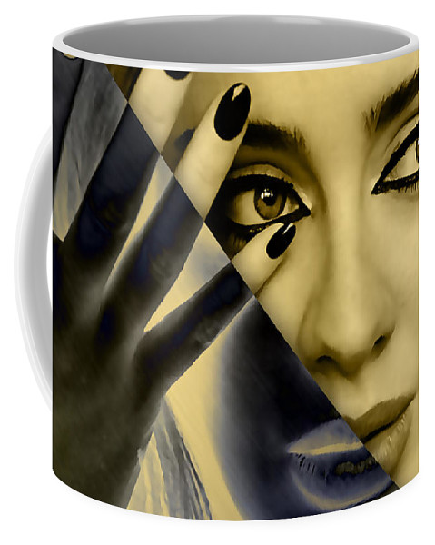 Adele Coffee Mug featuring the mixed media Adele Collection by Marvin Blaine