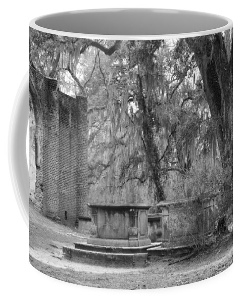 Old Sheldon Church Art Landscape Coffee Mug featuring the photograph Old Sheldon Church by Frank Conrad