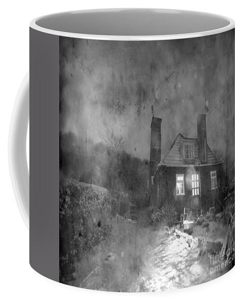 Shack Coffee Mug featuring the photograph The Winter Time by Angel Ciesniarska