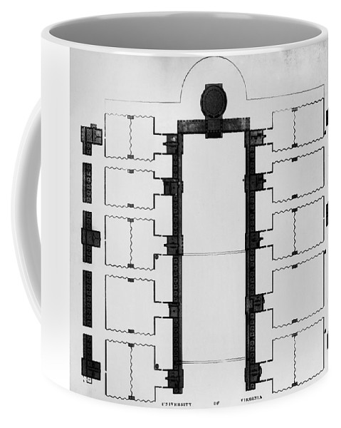 1825 Coffee Mug featuring the drawing University Of Virginia by Granger