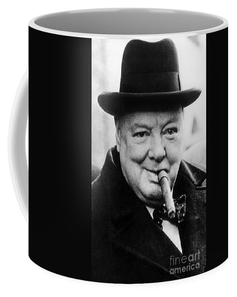 Churchill Coffee Mug featuring the photograph Winston Churchill 10 by English School
