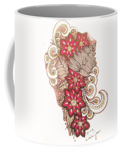 Relentless Coffee Mug featuring the drawing 100715 by Darla Richardson