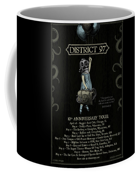 Coffee Mug featuring the digital art 10th Anniversary Tour by District 97