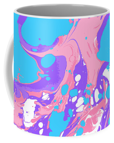 Marble Coffee Mug featuring the digital art #11 by Alina Debris