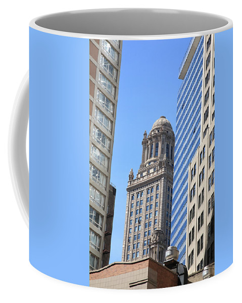 America Coffee Mug featuring the photograph Chicago Skyscrapers by Frank Romeo