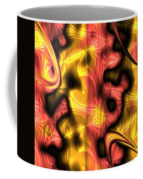 Abstract Coffee Mug featuring the digital art Fractal Modern Art Seamless Generated Texture by Miroslav Nemecek