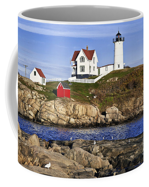 Cape Neddick Coffee Mug featuring the photograph Nubble Lighthouse by John Greim