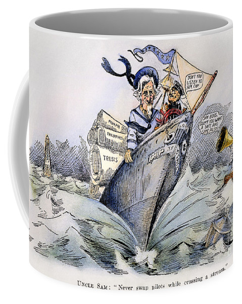 1904 Coffee Mug featuring the photograph Presidential Campaign 1904 by Granger
