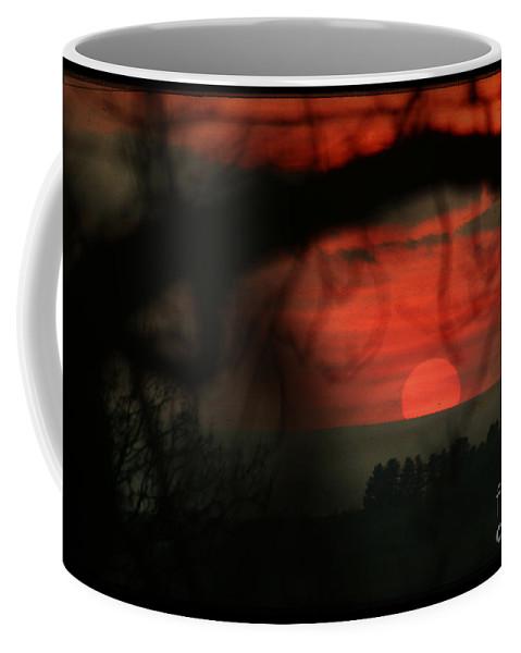 Sunset Coffee Mug featuring the photograph The Sunset by Angel Ciesniarska