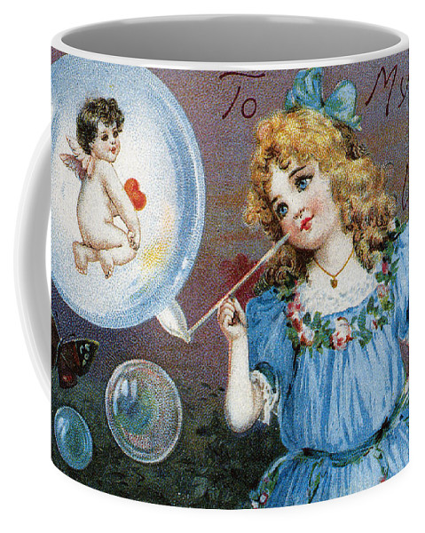 1910 Coffee Mug featuring the photograph Valentines Day Card by Granger