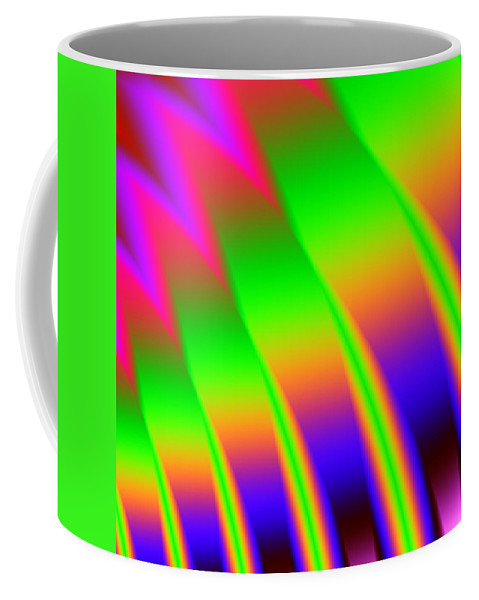 Neon Coffee Mug featuring the digital art 110 In The Shade by Kevin Caudill