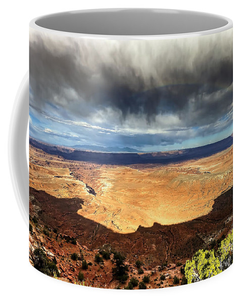 Canyonland Coffee Mug featuring the photograph 1174 Brewing Desert Storm by Steve Sturgill