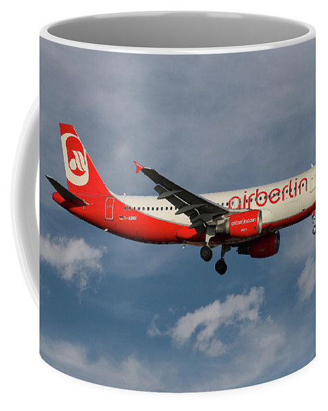 Air Berlin Coffee Mug featuring the photograph Air Berlin Airbus A320-214 by Smart Aviation